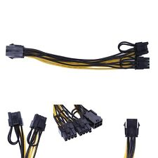 6-Pin Female To Dual 8-Pin (6+2 Pin) Male PCI-E Video Card Power Adapter Cable