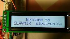 2x20 characters LCD display black on white STN positive led backlight 2x8pin