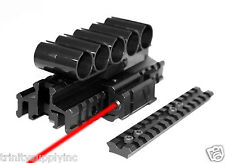 Mossberg 590 accessories 5 Round 12 Gauge Shell Holder with red laser