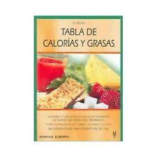 Tabla de calorias y grasas (Spanish Edition)