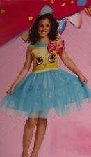 Girls Shopkins Cupcake Queen Dessert Halloween Purim Costume Medium 7 8 New