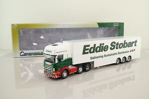 Cararama 1:50; Scania R Step Frame Box Tailer; Eddie Stobart; Excellent Boxed