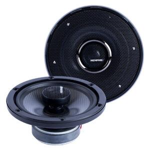 "MEMPHIS AUDIO MCX6 6.5"" CARBON FIBER COAXIAL 2-WAY ALUMINUM TWEETERS SPEAKERS"