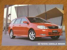 2002 Toyota Corolla Wagon original Australian single page brochure