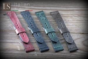 24 Genuine Italian Handmade Leather LS ILLINOIS Vintage Watch Strap Various
