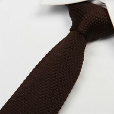 Solid Knit Knitted Men's Fashion Narrow Necktie Woven Tie