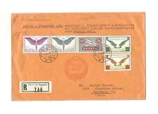 Schweiz 1929 Briefmarken Brief von 1936 Flugpost Zeppelin Mi 184 189 191 233 234