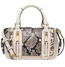 NWT Michael Kors Julia Small Satchel - Crossbody Ecru - Python Leather~MSRP$398