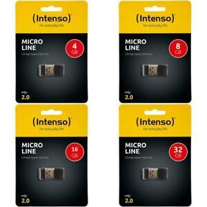 Intenso Micro Line 4/8/16/32GB Speicher USB 2.0 Stick mini USB flash drive