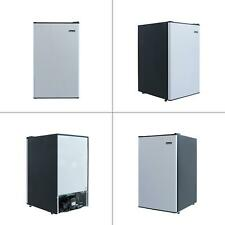 4.4 cu. ft. mini fridge in stainless look | magic chef refrigerator compact with