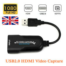 HD 1080P 60FPS Video Capture Card HDMI to USB 2.0 Video Grabber Live Streaming