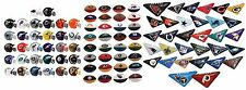 MINI NFL FOOTBALL HELMETS, ERASERS, TABLETOP FLICKERS COMPLETE SETS 32 X 3 96 PC