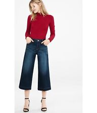 EXPRESS 6 HIGH RISE DARK WASH DENIM CULOTTES gauchos cropped crop small jeans