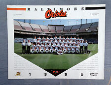 1990 Orioles Baseball Original Team Poster w Cal Ripkin, Jr and Frank Robinson