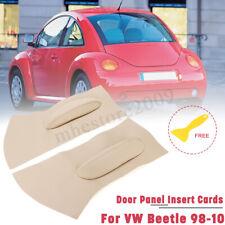 Door Panel Insert Cards Leather Synthetic For Volkswagen Beetle 1998-2010