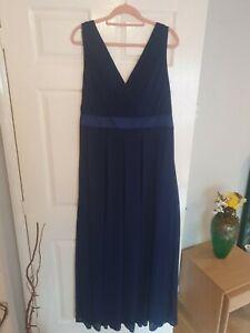 TFNC London Navy Evening Bridesmaid Dress Size 22 BNWT *asos*