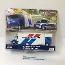 '71 Datsun 510 & Fleet Flyer * 2019 Hot Wheels Team Transport Car Culture * T23