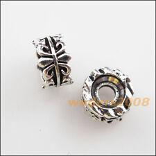 "20 New Charms Tibetan Silver Tone Flower ""Fleur de lis"" Spacer Beads 7mm"