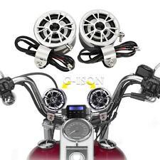 "MP3 Speaker Amplifier 7/8"" Handlebar Mount  Motorcycle Street Bike Cruisers"