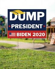 Trump Dump President Biden 2020 Yard Sign, Vote President Political Yard Sign