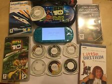 SLIM SONY PSP 3003 METALIC TURQUOISE Limited Edition console +10 GIOCHI + LB