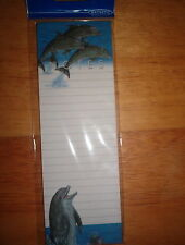 (4) OTTER HOUSE MAGNETIC LIST PADS  FREESTYLE (DOLPHINS)     50 SHEETS/PAD