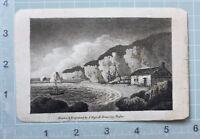 C1800 Antik Aufdruck Graviert Von J.Hassell Dover Felsen Zeichnung Master
