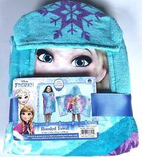 "Disney Frozen Anna & Elsa Hooded Bath Towel Wrap All Cotton 22.5"" x 51"""
