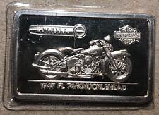 1947 FL 74/Knucklehead Harley Davidson .999 Silver Art Bar