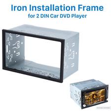 Silver Double 2 Din Car Dvd Stereo Radio Dash Kit Installation Mounting Trim Fits Pontiac Sunfire