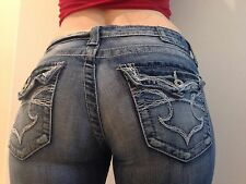 Big Star ~ CASEY K ~ Womens Size 27 L Flap Pocket Boot Cut Jeans Pants