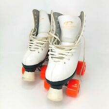 Dominion Canada Esprit Roller Skate Marathon Iv Orange Wheels White Women Size 4