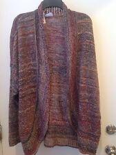 Jillian & Nicole Woman's Plus Size 2X multi color Shrug knit Sweater Jacket New
