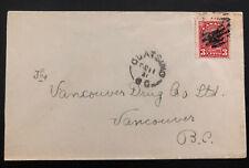 1931 Quatsino Canada cover To Vancouver Split Ring Cancel