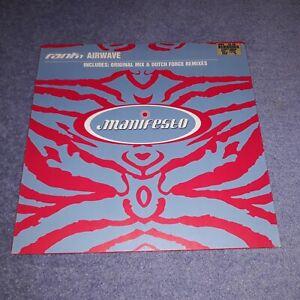Rank 1 - Airwave (Original & Dutch Force Mixes) Manifesto Classic Trance Vinyl