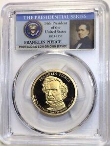 2010-S Franklin Pierce 14th President  Presidential Dollar PCGS PR69DCAM