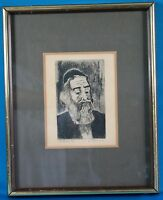 "Rare Vintage Marianne L Almasy Signed ""Rabbi"" Etching Limited Edition"