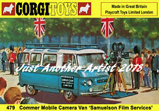 Corgi Toys 479 Commer Mobile Camera Van A4 Size Poster Shop Display Sign Leaflet