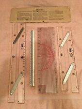 """2 Weems & Plath - Parallel Plotters 18"""" #138, 15"""" #141 + Course Plotter & Scale"""