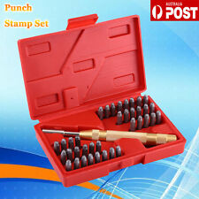 38PCS Automatic Metal Punch Stamps Letter/Number Stamping Punch Imprint Tool Set