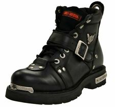 Harley-Davidson® Men's Brake Buckle Black Leather Motorcycle Boots D91684 M