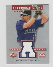Todd Helton Rockies 2003 Upper Deck Authentic Stars Jersey Swatch #AS-TH