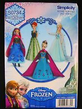Simplicity S0734 Disney Frozen 11 1/2 Inch Doll Fashion Clothes Sewing Pattern