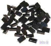 LEGO - 50 x Mini - Dachstein 30 Grad 1x2x2/3 schwarz / Slope  85984 NEUWARE (L1)