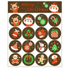 2 Pcs Merry Christmas Badge Stickers Envelope Seal Gifts Food Wrapping Stickers