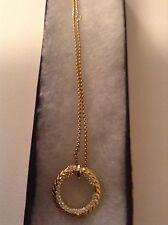 Michael Kors Gold Tone Skorpios Braid Ring Necklace MKJ3367710 NWT