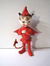 Vintage 1955 Kreiss Red Devil with Cape Ceramicl Figurine Halloween RARE