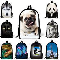 Women Travel Backpack Rucksack Dinosaur Satchel School Bag Boys Girls Bookbag