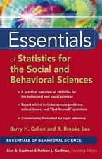 Essentials of Statistics for the Social and Behavioral Sciences by Cohen, Barry