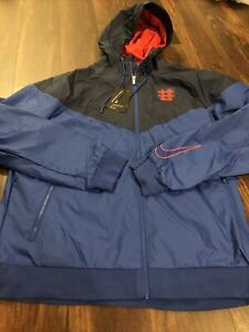New Nike Team England Mens Soccer Jacket Size XL Blue Red